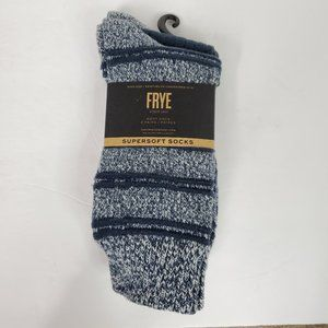 FRYE supersoft 2 pack boot socks NWT blue